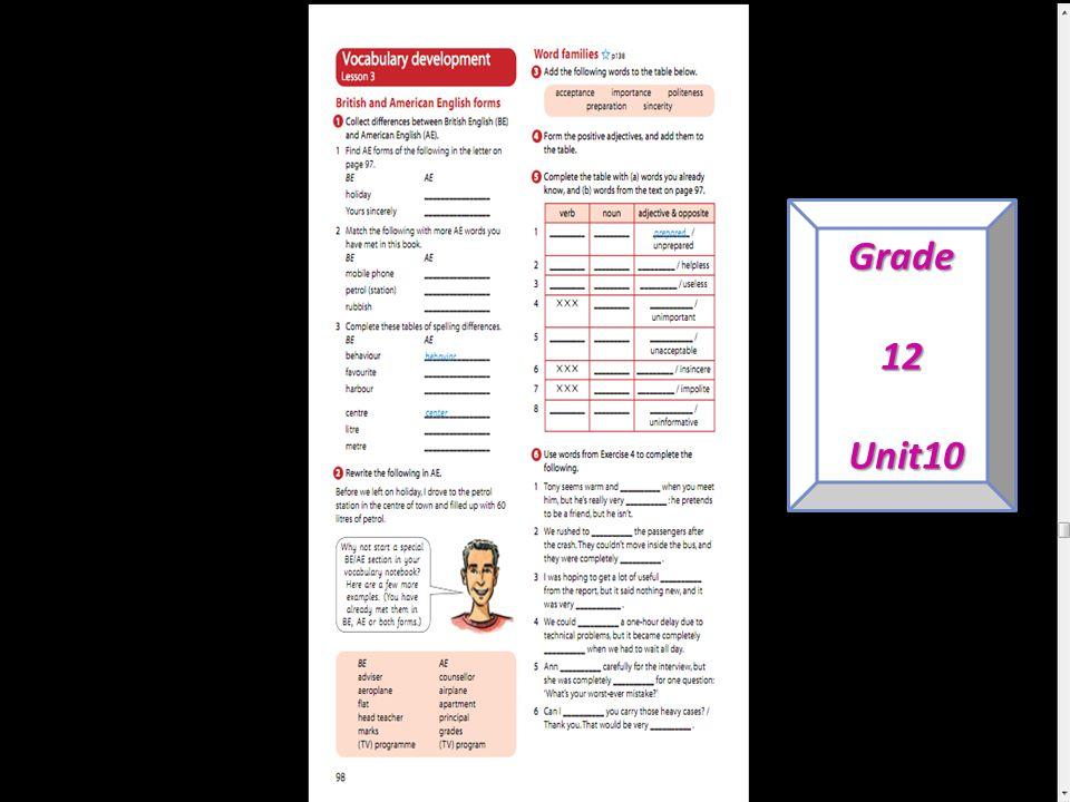 Grade12 Unit10 Unit10