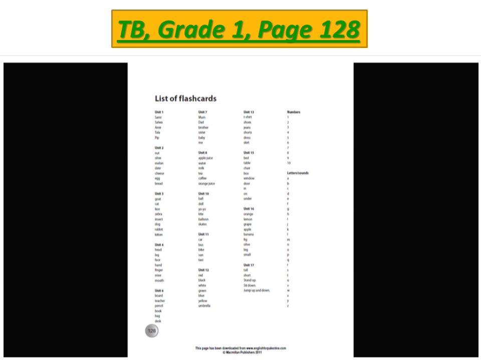 TB, Grade 1, Page 128