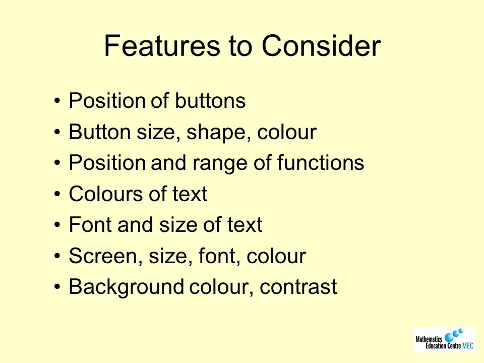 Guidelines Background colour Dark, opaque, not metallic or transparent.