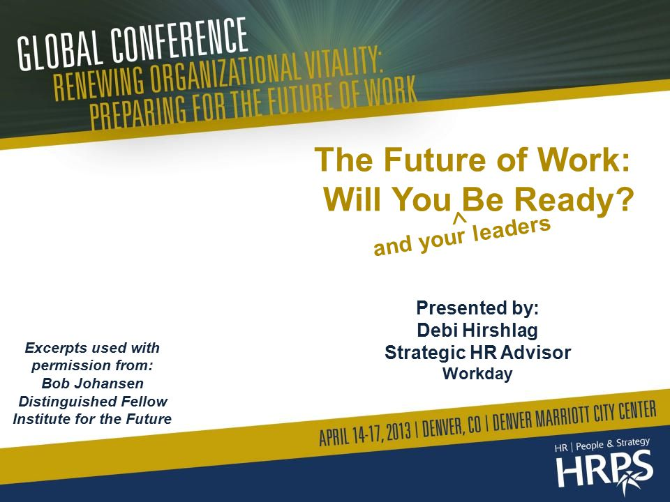 The Future of Work: Will You Be Ready.