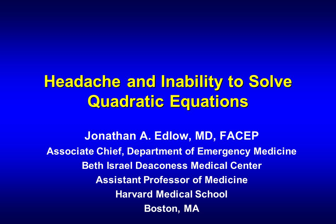 Jonathan A. Edlow, MD