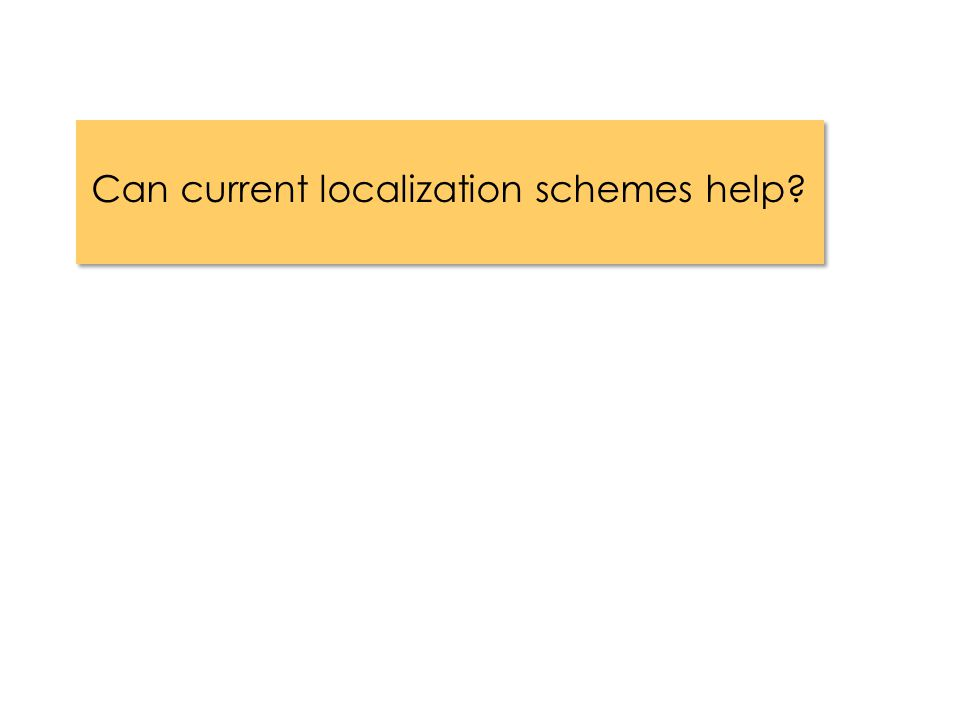 Can current localization schemes help