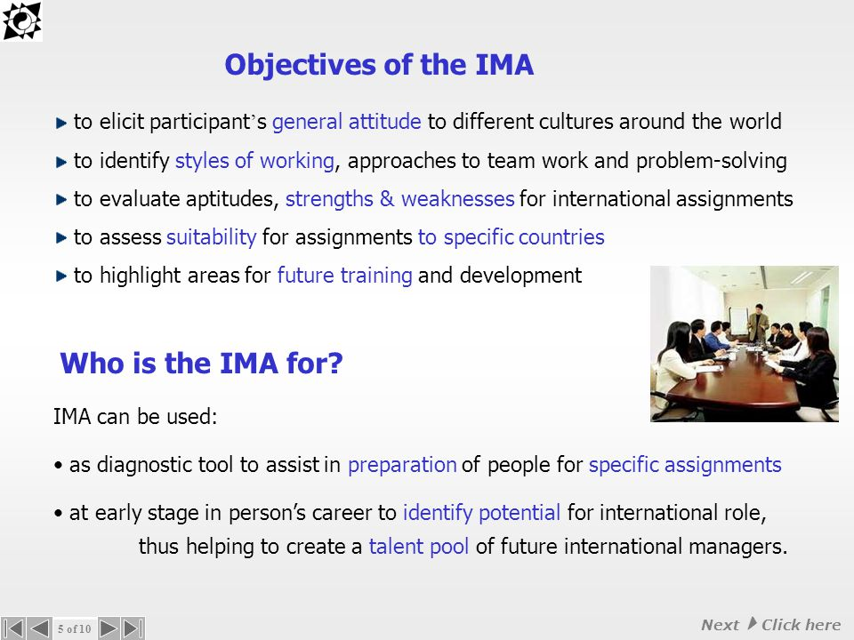 Why use the IMA.