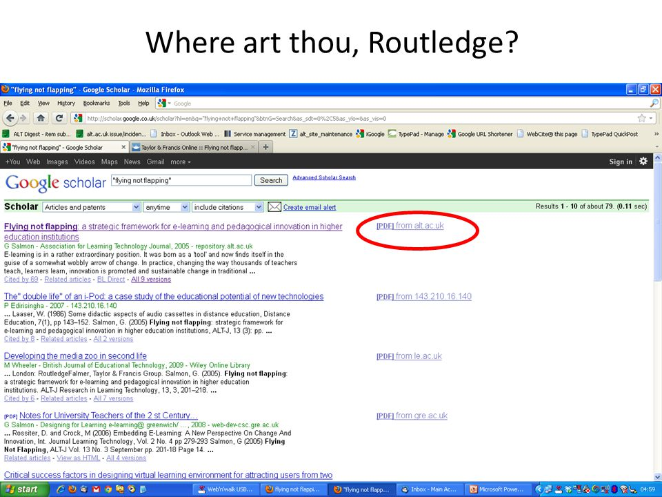 Where art thou, Routledge?
