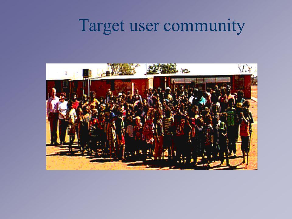 Target user community