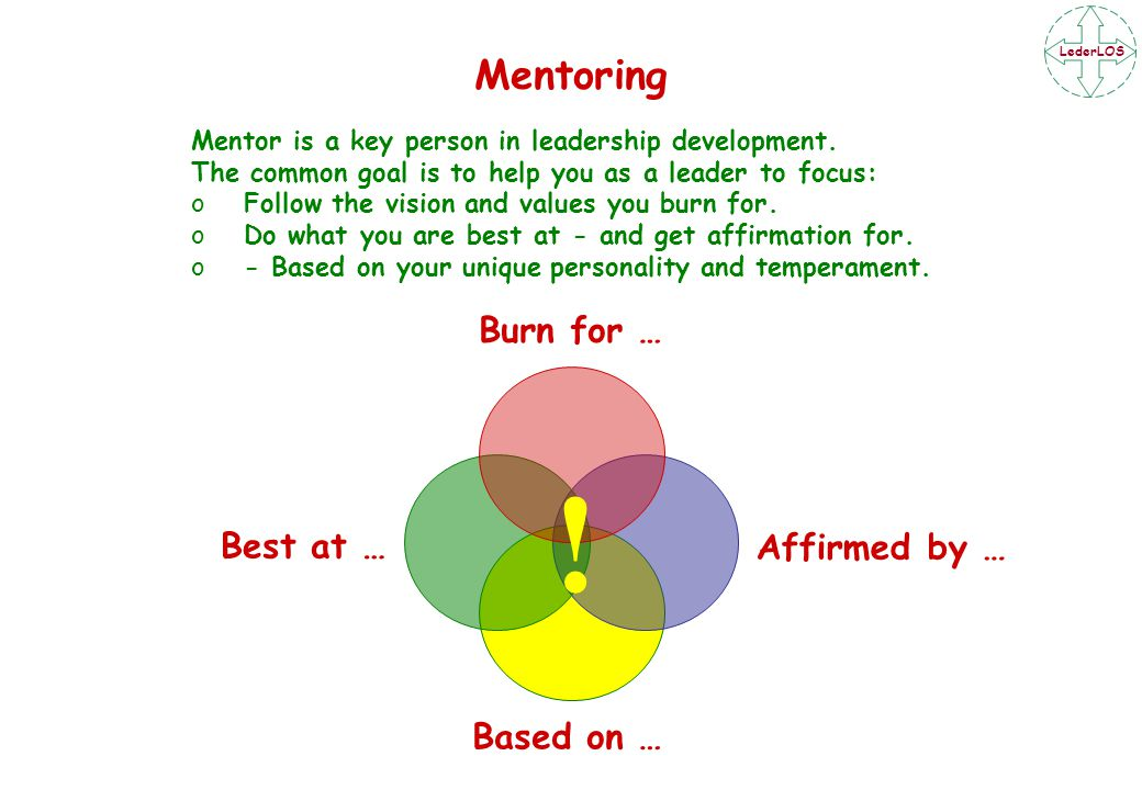 LederLOS Mentor is a key person in leadership development.