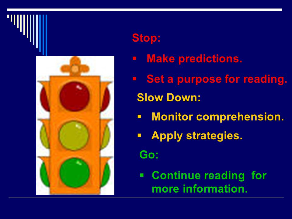 Stop:  Make predictions. Set a purpose for reading.