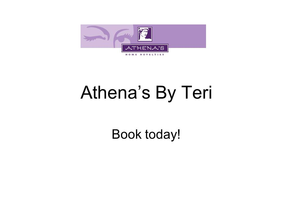 Athena's By Teri Book today!