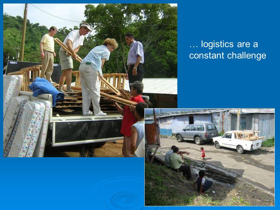 … logistics are a constant challenge
