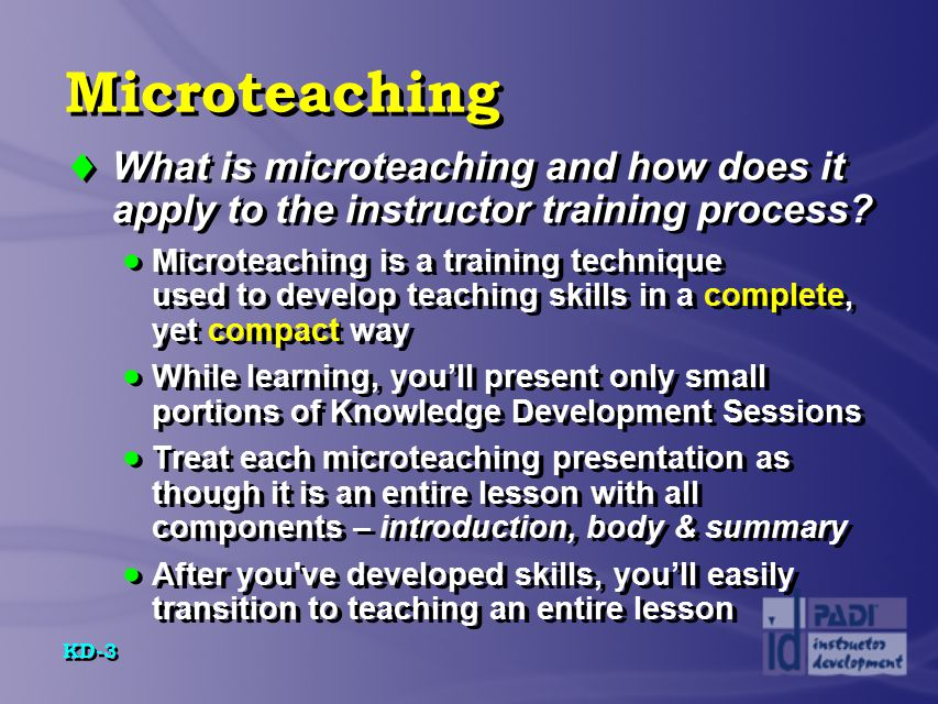 KD-24 Anatomy of a Knowledge Development Presentation  Four parts of introduction...