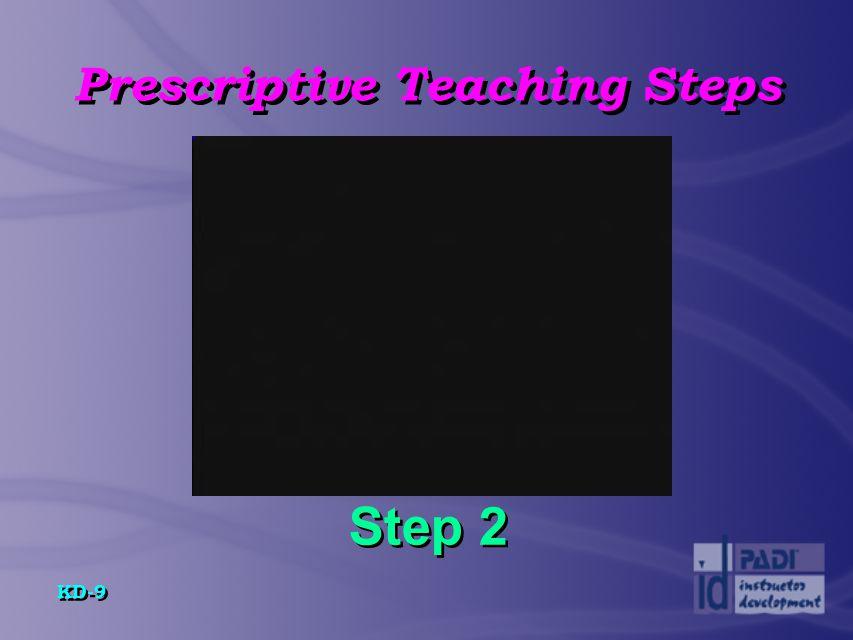 KD-10 Prescriptive Teaching Steps Step 3