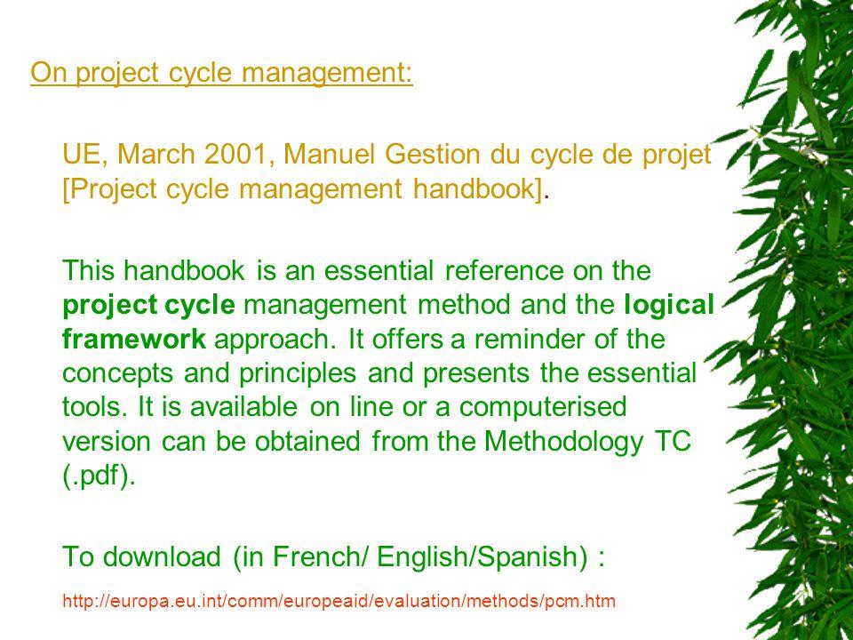 On the PME in general DDC, 1996, PSER – une entrée en matière [PMER - an introduction], 29p.
