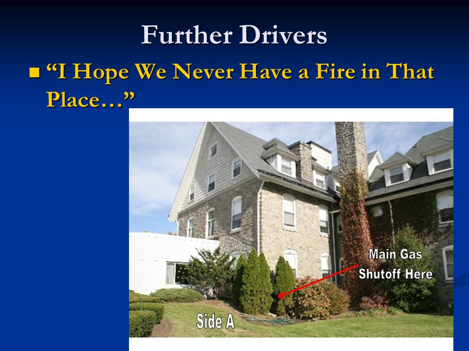 Further Drivers I Hope We Never Have a Fire in That Place… I Hope We Never Have a Fire in That Place…