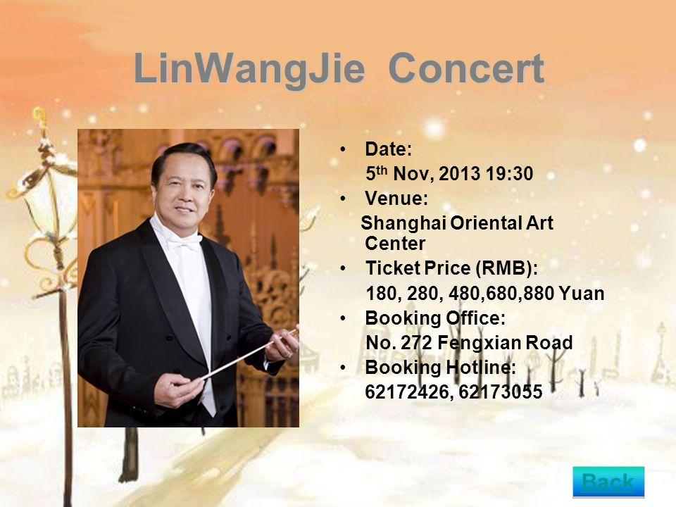 Les Choristes En Concert - Concert by Les Petits Chanteurs de Saint-Marc Date: 6 th Nov,2013 19:30 Venue: Shanghai Oriental Art Centre Ticket Price (RMB): 280,380,580,680 Yuan Booking Office: No.
