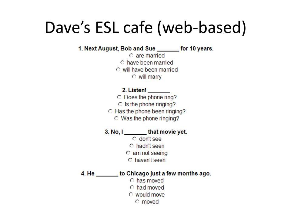 Dave's ESL cafe (web-based)