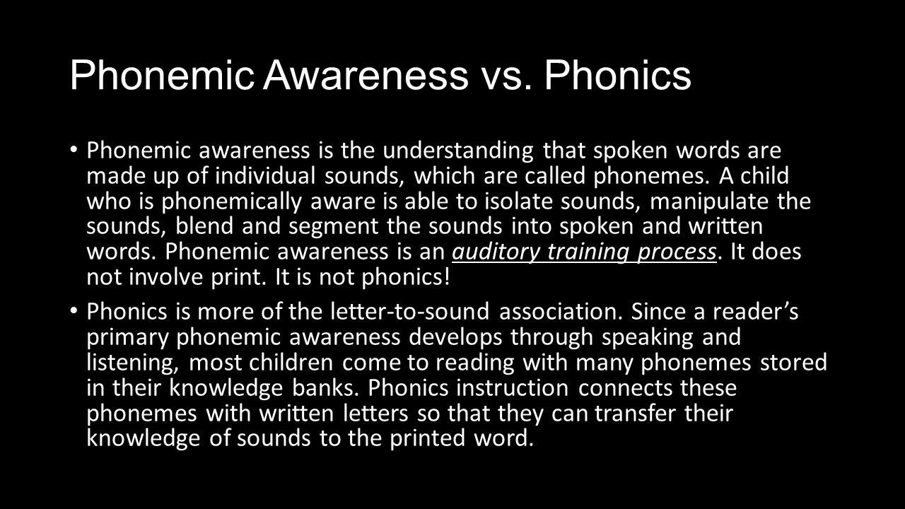 Phonemic Awareness vs.