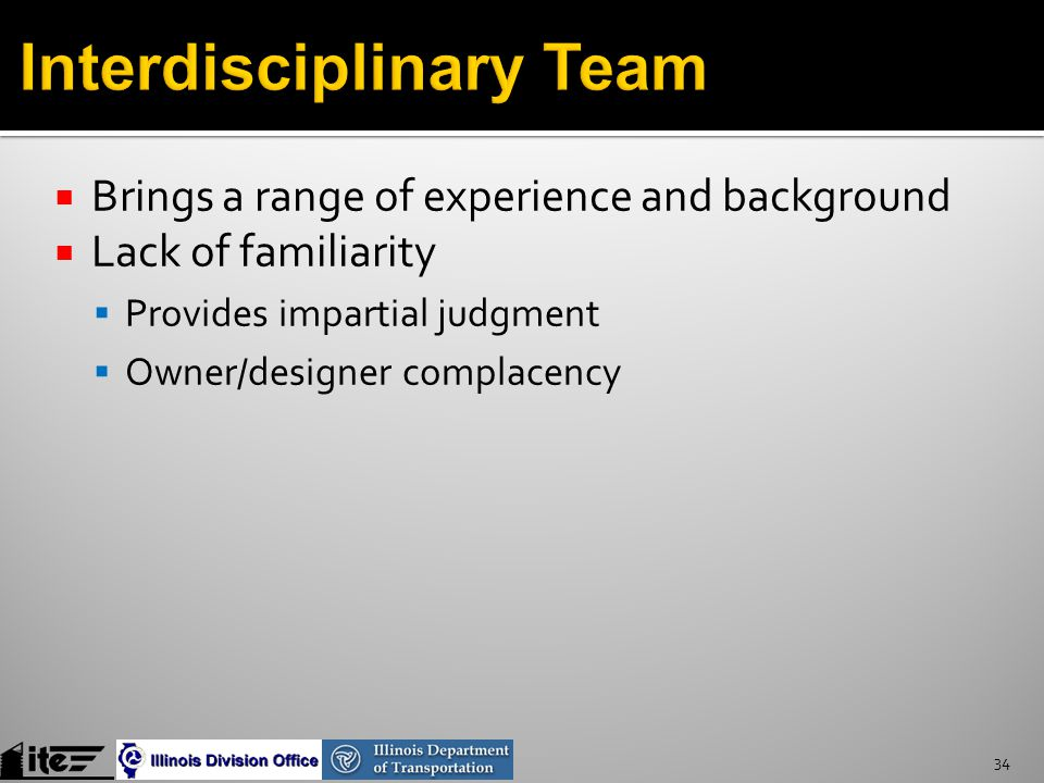  Brings a range of experience and background  Lack of familiarity  Provides impartial judgment  Owner/designer complacency 34