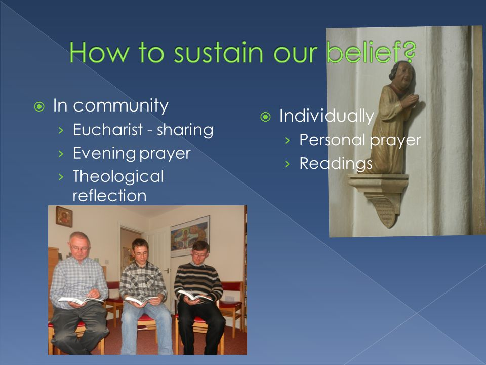  In community › Eucharist - sharing › Evening prayer › Theological reflection  Individually › Personal prayer › Readings