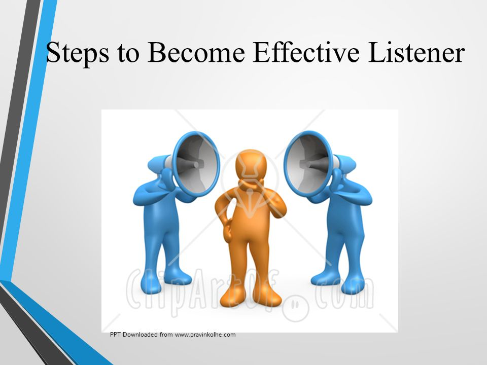 Steps to Become Effective Listener PPT Downloaded from www.pravinkolhe.com