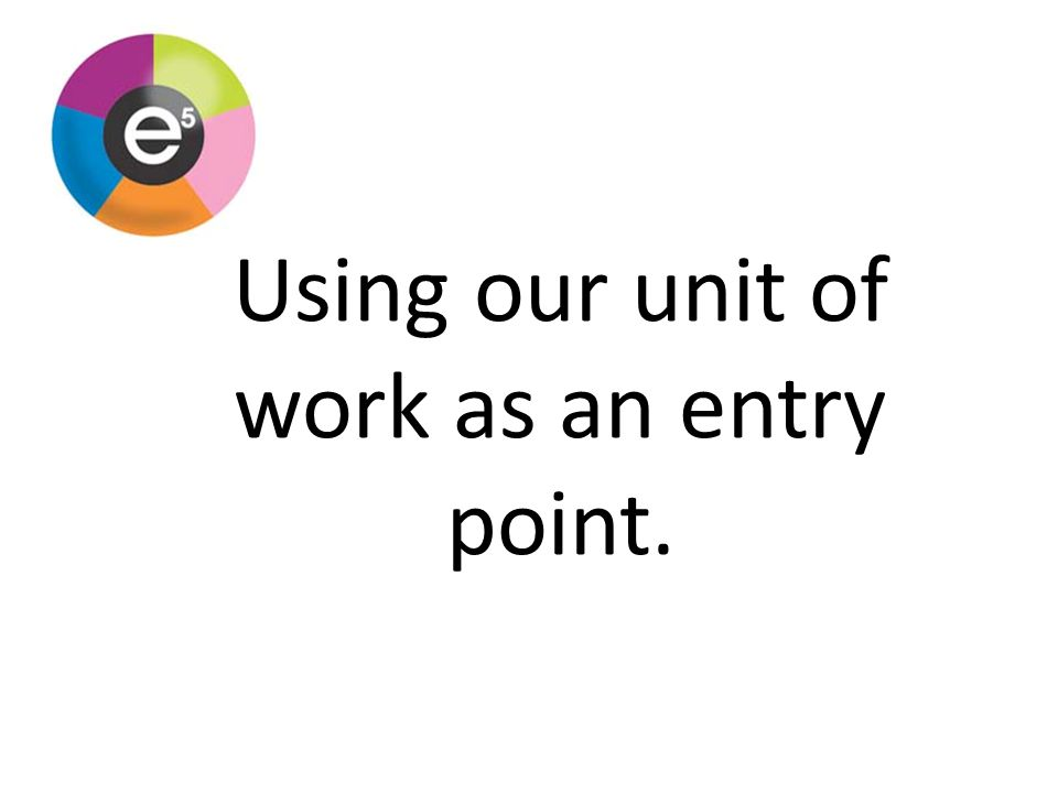 Using our unit of work as an entry point.