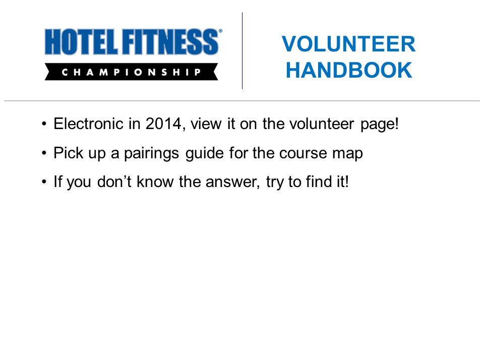 Electronic in 2014, view it on the volunteer page.