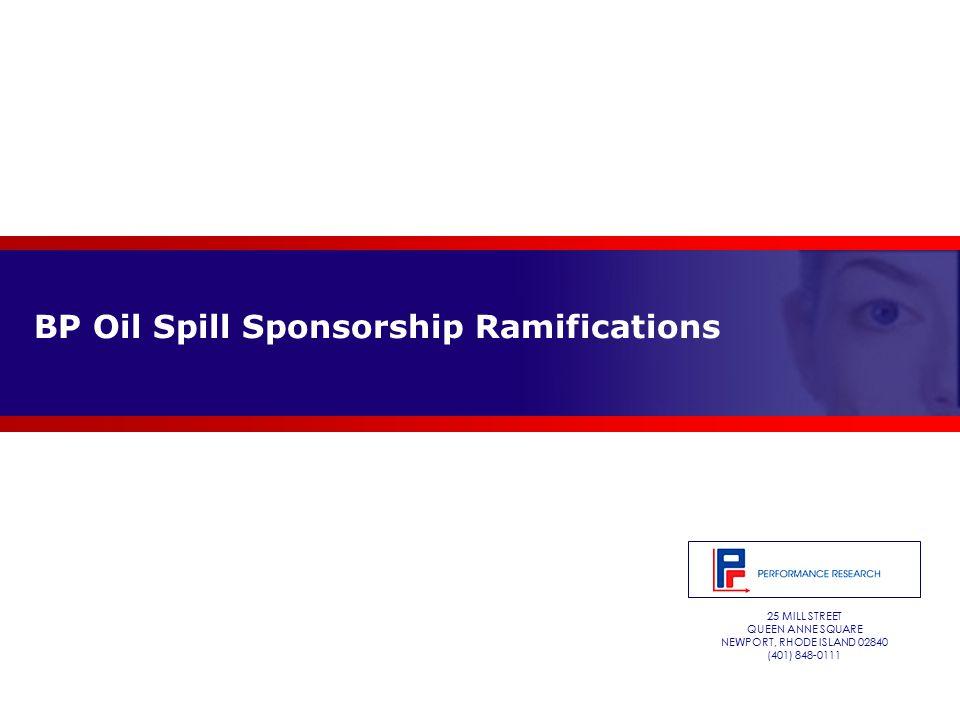 25 MILL STREET QUEEN ANNE SQUARE NEWPORT, RHODE ISLAND 02840 (401) 848-0111 BP Oil Spill Sponsorship Ramifications