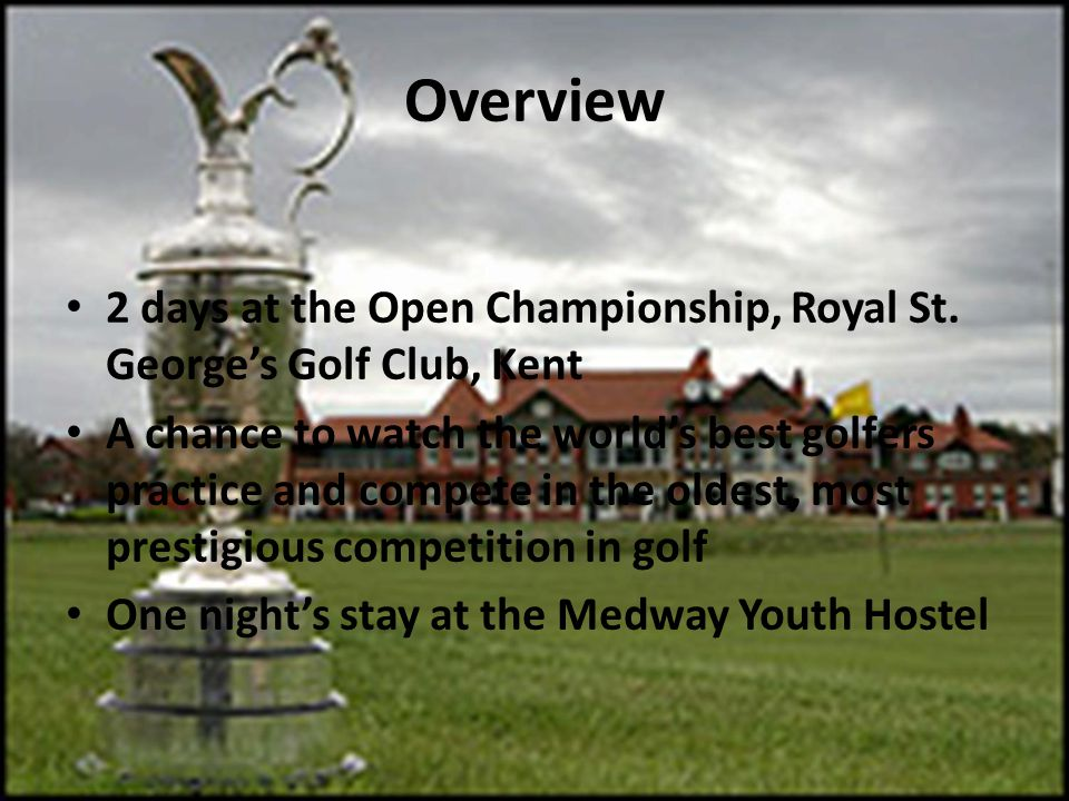 Overview 2 days at the Open Championship, Royal St.