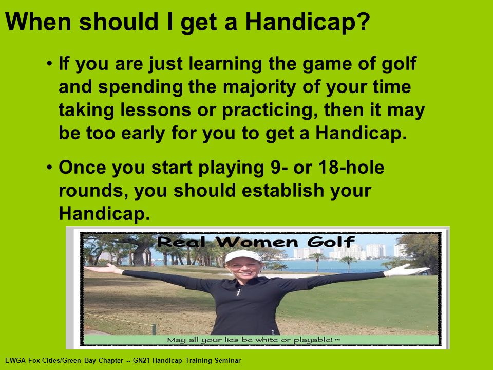 When should I get a Handicap.