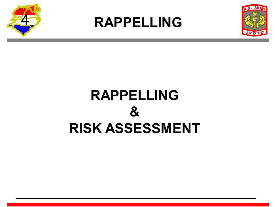 4 RAPPELLING RAPPELLING & RISK ASSESSMENT