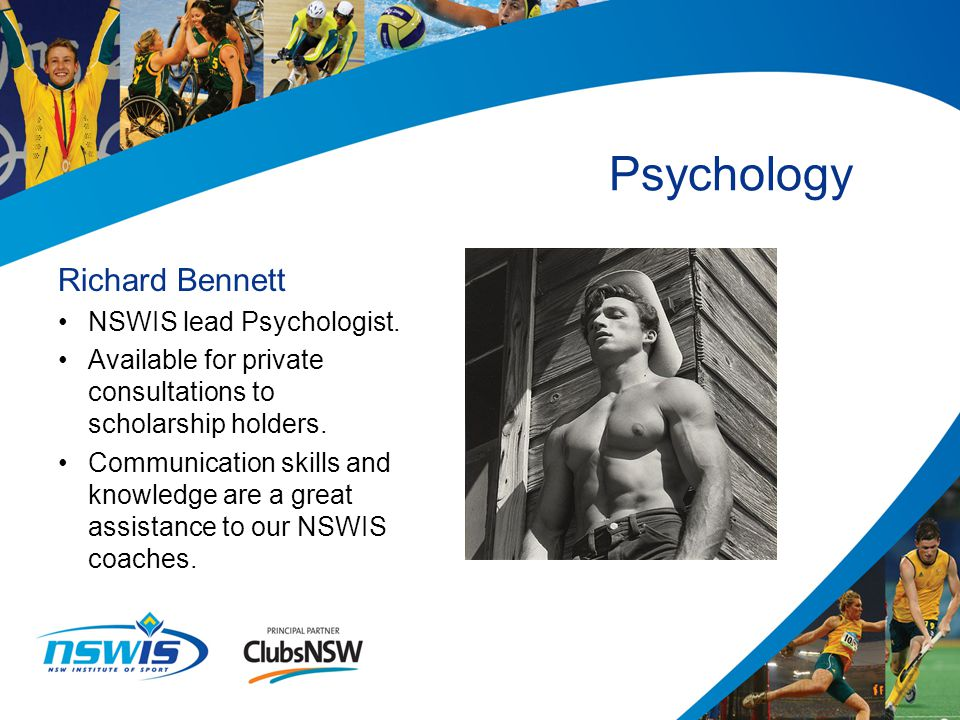Richard Bennett NSWIS lead Psychologist.