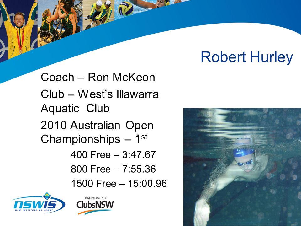 James Magnussen Coach – Brant Best Club – Macquarie University SC 2010 Australian Open Championships – 3 rd 100 free – 0:49.43