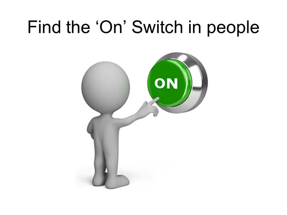 Find the 'On' Switch in people