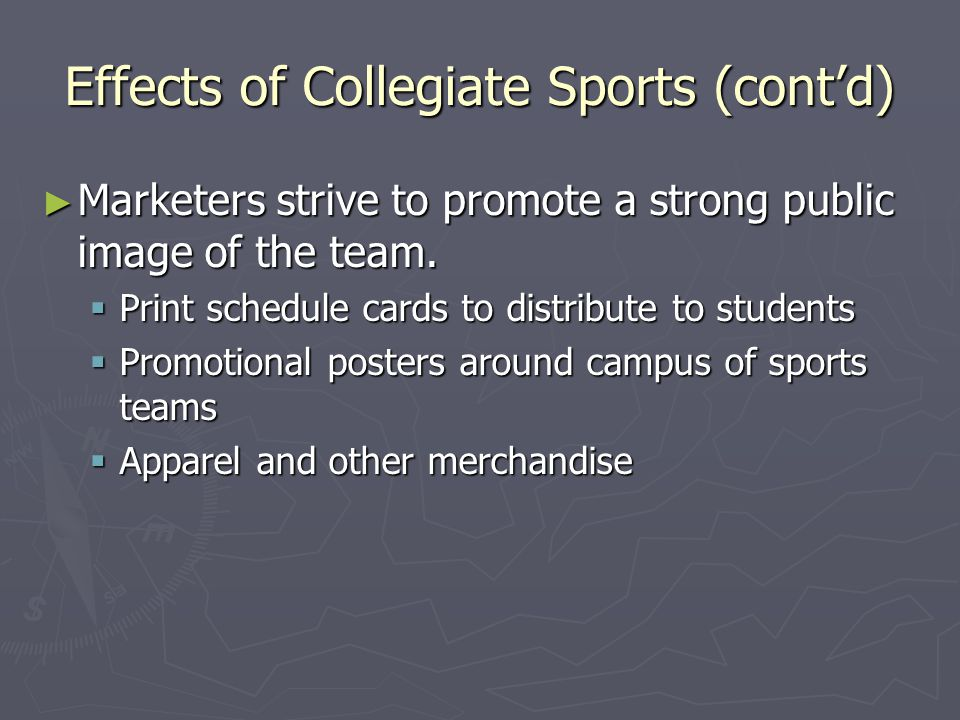 Licensing- ► Legal right to reproduce a team's logo in exchange for payment ► Mission of Athletic Licensing Office  Protect the use of name and symbols  Ensure the public can properly identify and associate logos ► Sales increase after national championship ► Updating logo increases sales ► Each item containing logo provides income to the university ► PSU Licensing Office PSU Licensing Office PSU Licensing Office