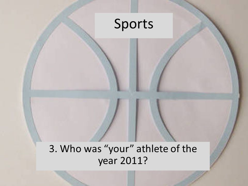 3. Who was your athlete of the year 2011 Sports