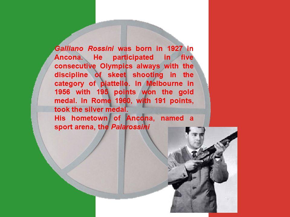 Galliano Rossini was born in 1927 in Ancona.