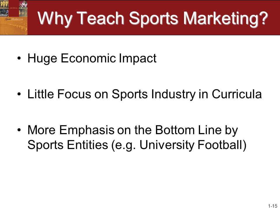 1-15 Why Teach Sports Marketing.