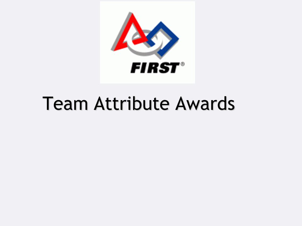Team Attribute Awards