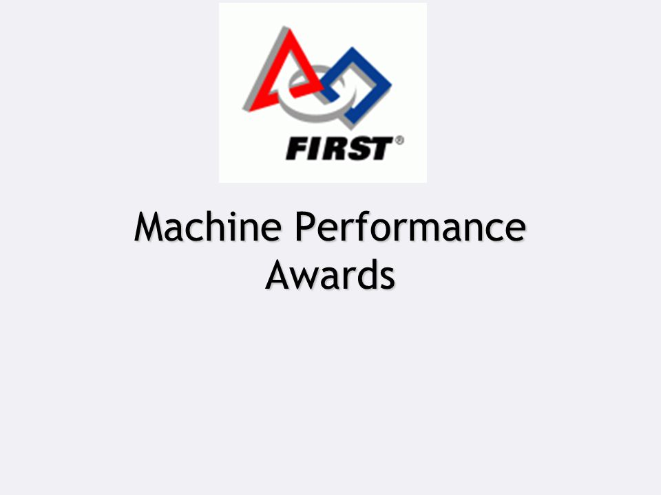 Machine Performance Awards
