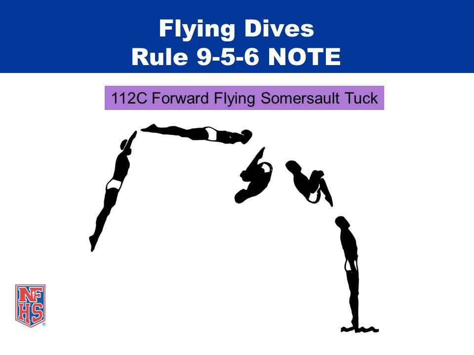 Flying Dives Rule 9-5-6 NOTE 112C Forward Flying Somersault Tuck