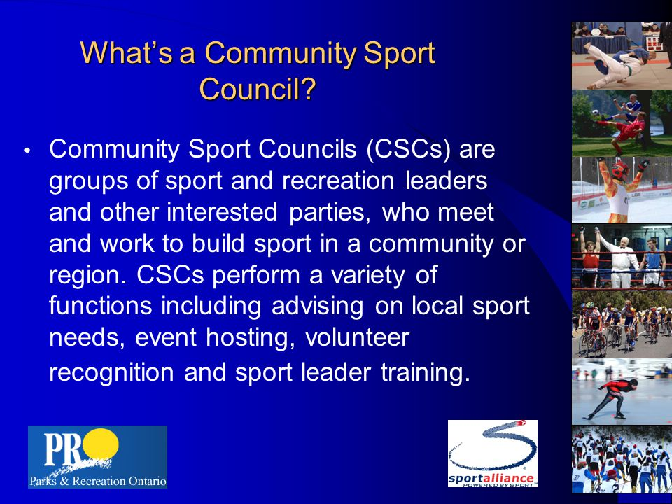 What's a Community Sport Council.