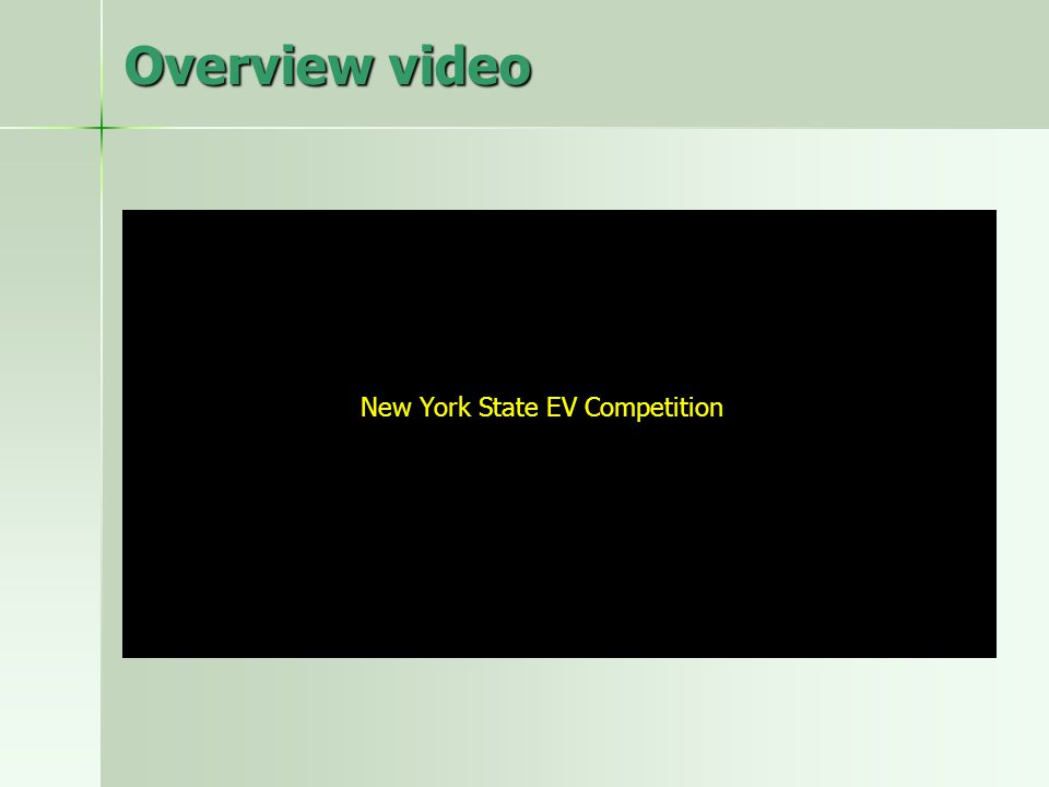 Overview video New York State EV Competition
