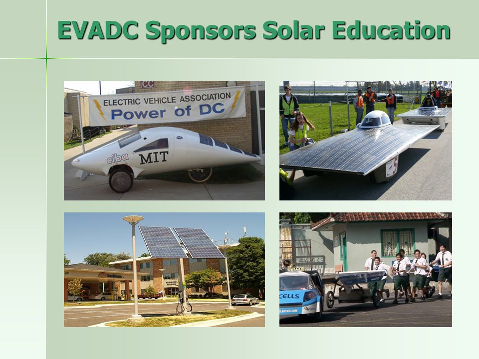 EVADC Sponsors Solar Education
