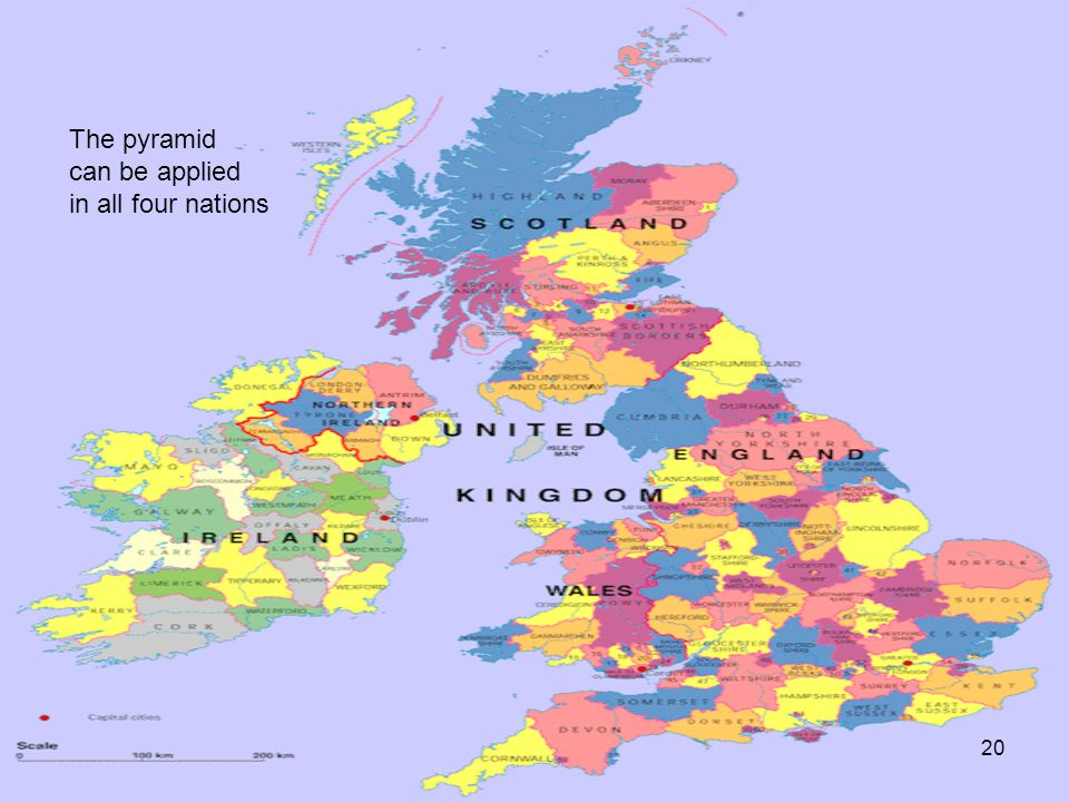 20 The pyramid can be applied in all four nations