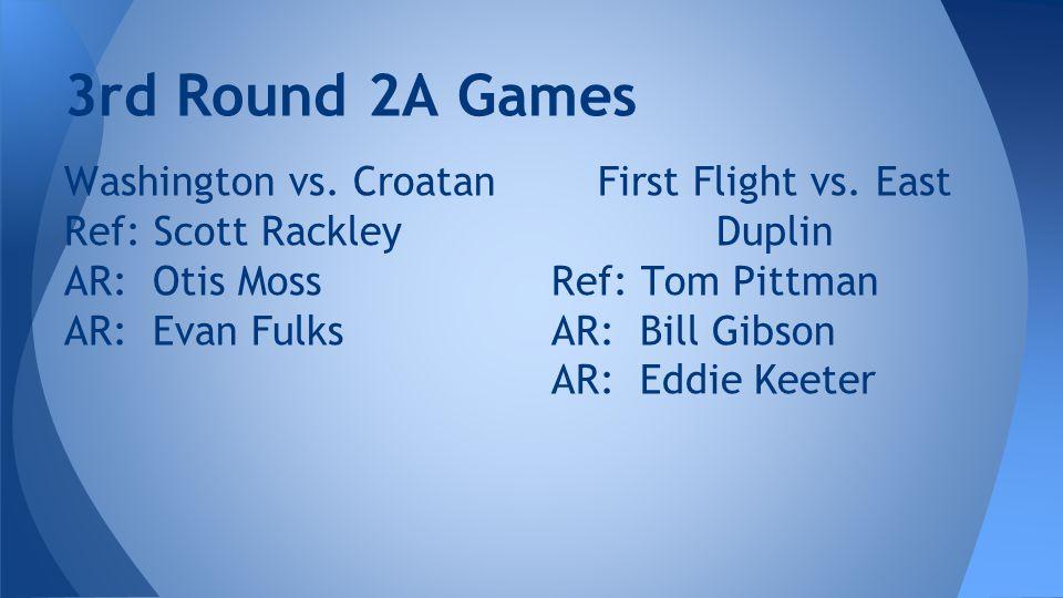3rd Round 2A Games Washington vs.