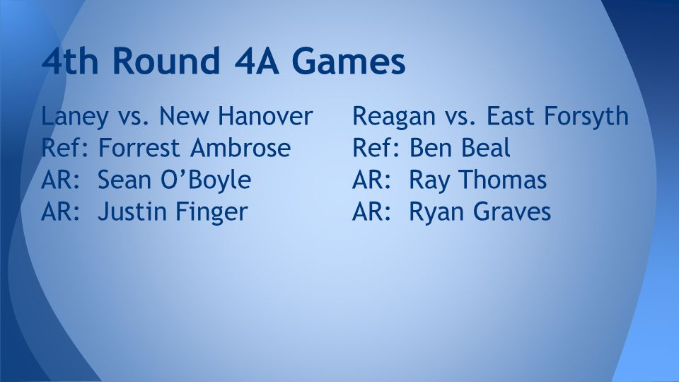 4th Round 4A Games Laney vs.
