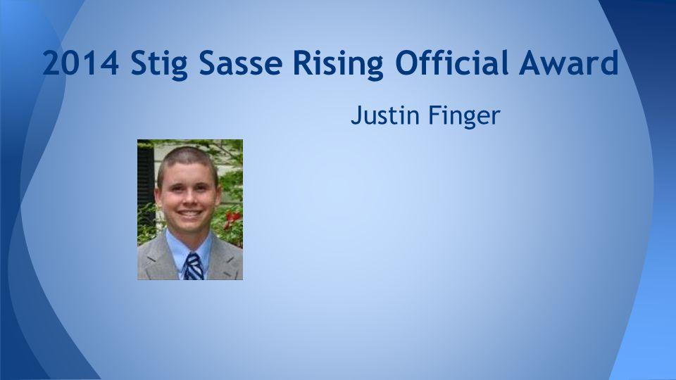 2014 Stig Sasse Rising Official Award Justin Finger