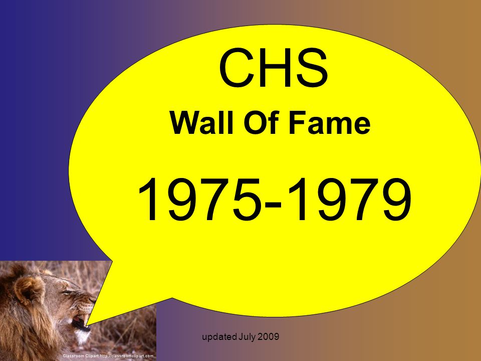 updated July 2009 CHS Wall Of Fame 1975-1979
