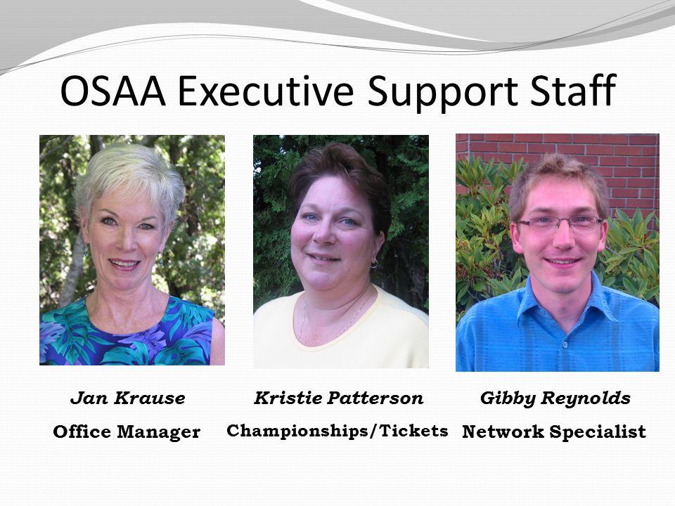 OSAA Executive Support Staff Marla Starkman Reimbursements Roni Illias Officials Amerilyn Rivett Receptionist