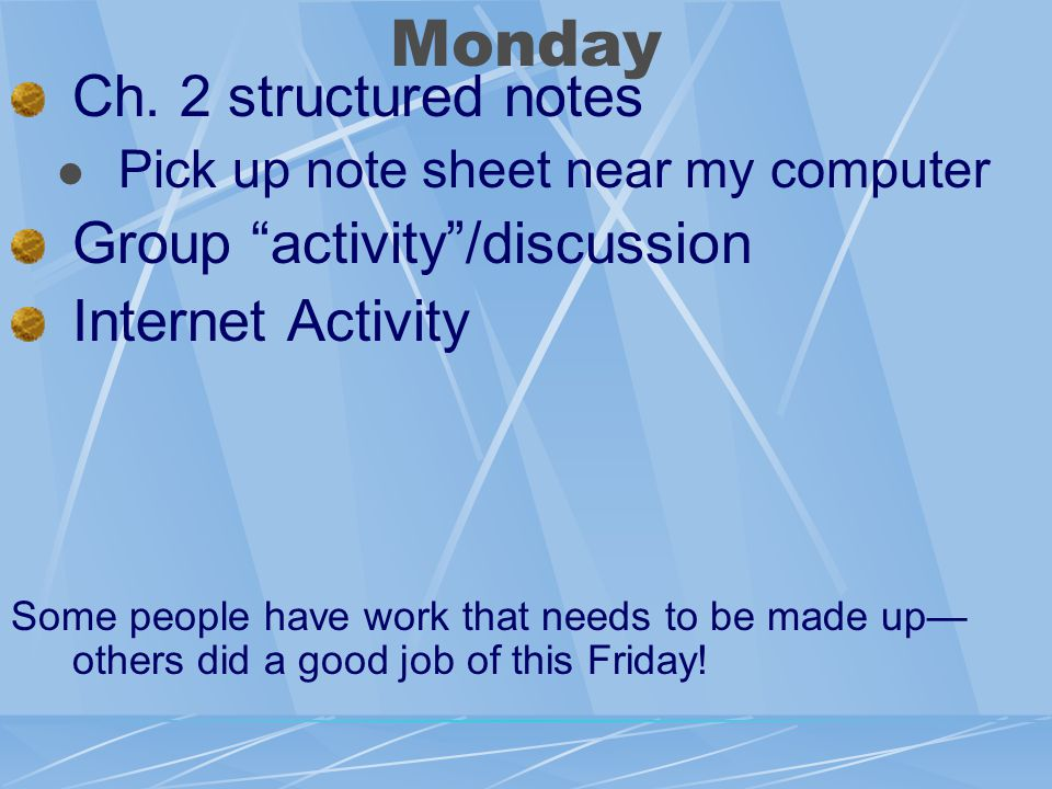 Monday Ch.