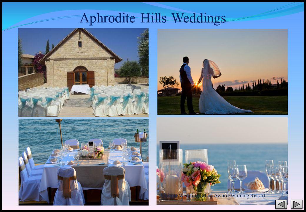Unique Weddings at an Award-Winning Resort Aphrodite Hills Weddings